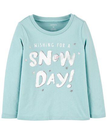 T-shirt en jersey Snow Day