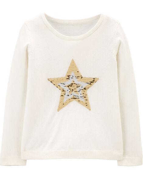 Flip Sequin Star Sweatshirt