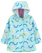 Rainbow Print Rain Jacket, , hi-res