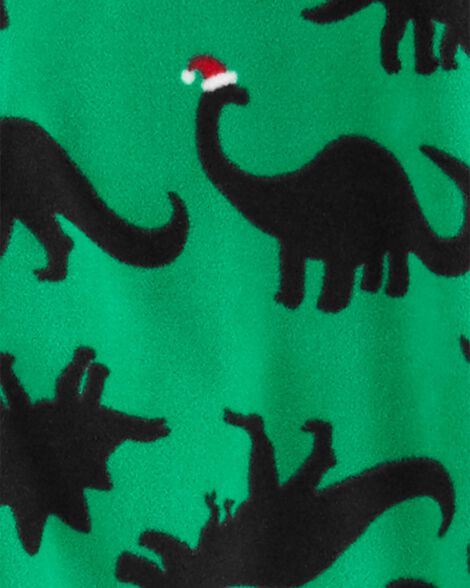 1-Piece Dinosaur Fleece Footie PJs