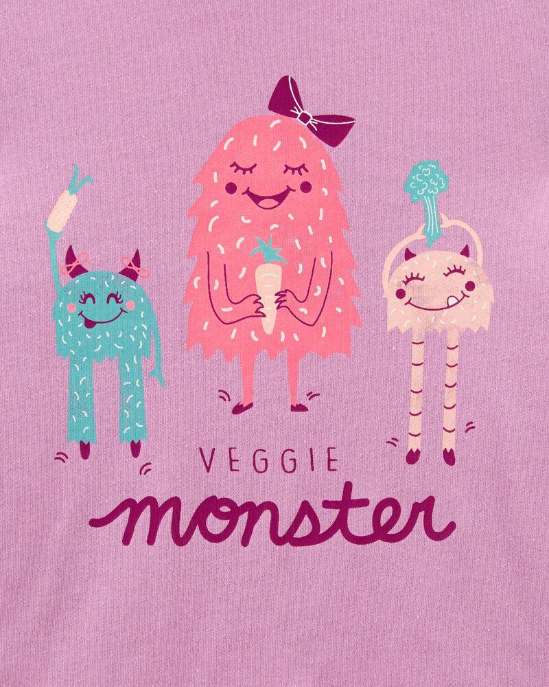 T-shirt en jersey à monstre légume, , hi-res