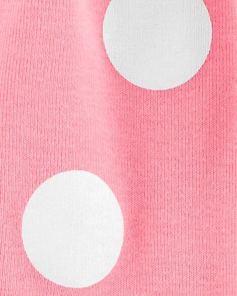 2-Piece Polka Dot Bodysuit Dress & Cardigan Set