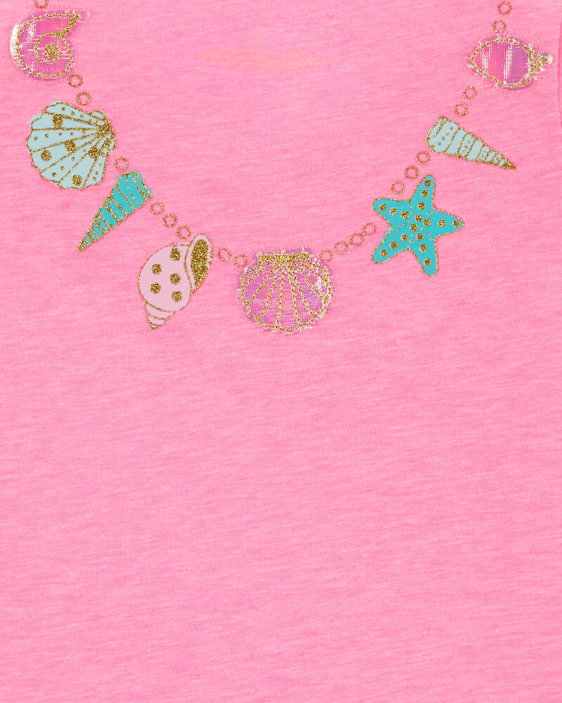 Necklace Bow Back Tee, , hi-res