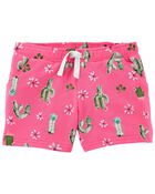 Cactus Pull-On Shorts, , hi-res