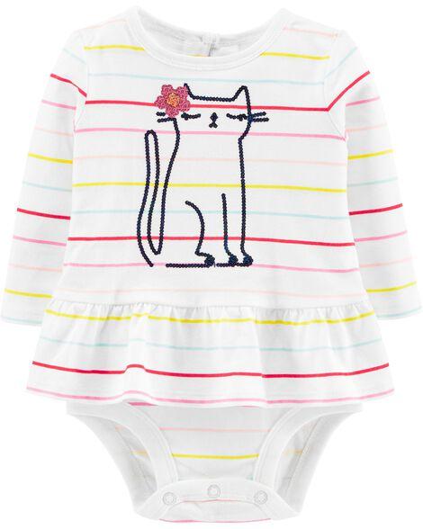 Cat Peplum Bodysuit