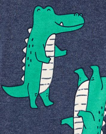 Alligator 2-Way Zip Cotton Sleep &...