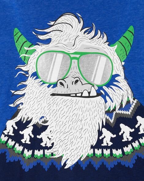 T-shirt en jersey chiné abominable homme des neiges