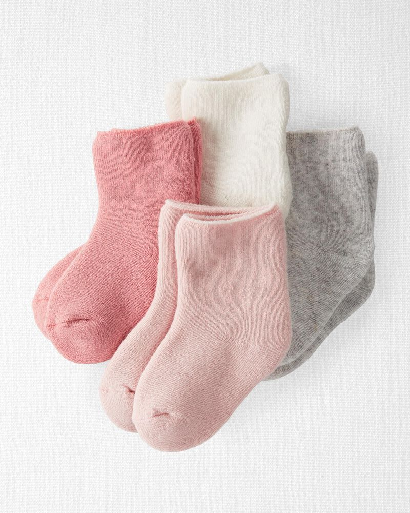 4-Pack Organic Cotton Terry Socks, , hi-res
