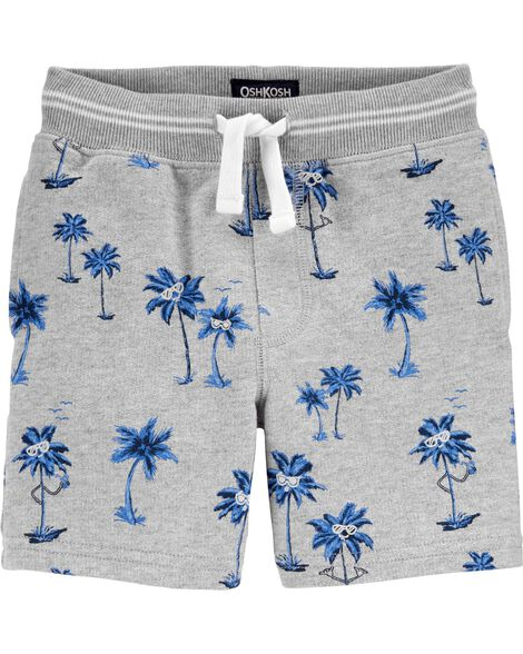 Palm Tree Pull-On Shorts