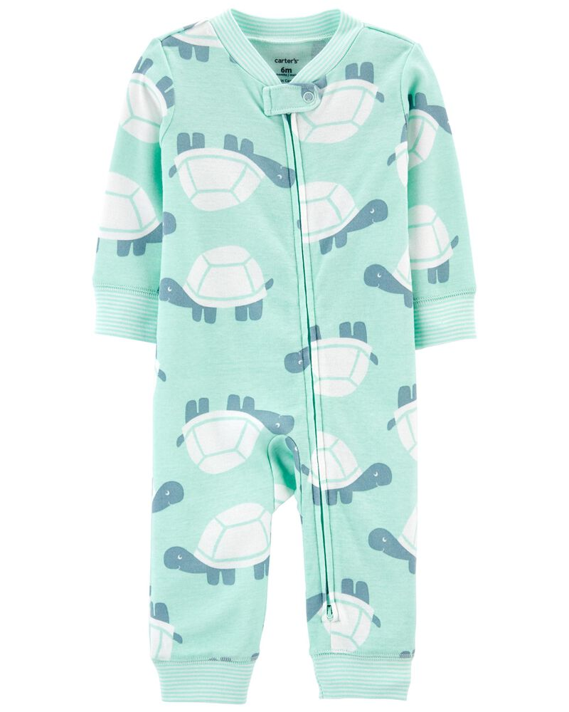 Turtle Zip-Up Cotton Footless Sleep & Play, , hi-res
