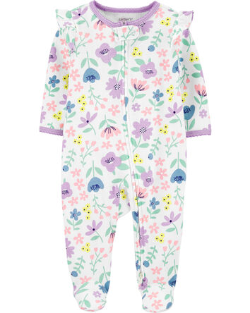 Floral 2-Way Zip Cotton Sleep & Pla...