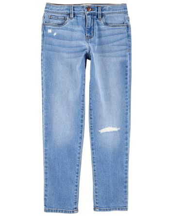 Jeans de coupe girlfriend à délavag...