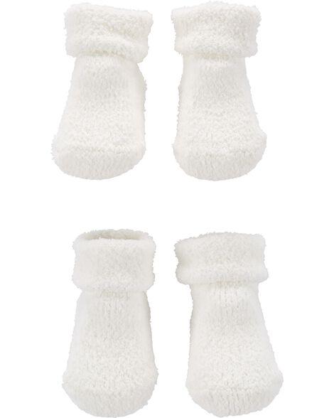 2 paires de chaussettes en chenille
