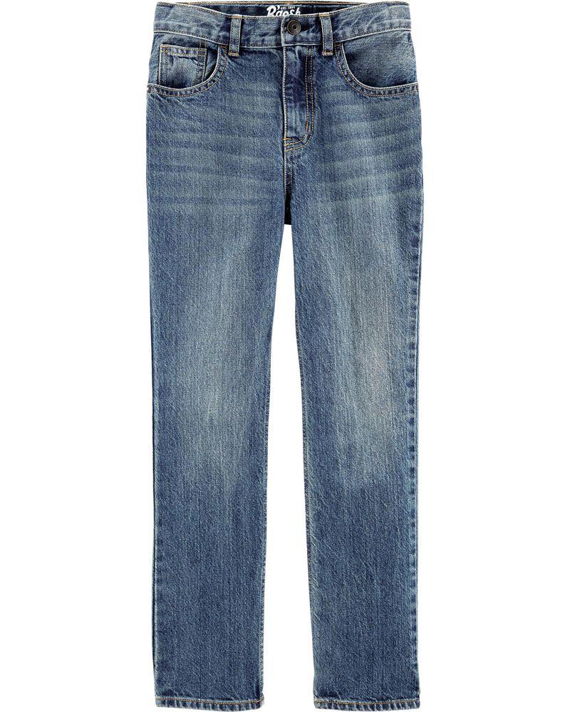 Jeans classique - délavage moyen usé, , hi-res