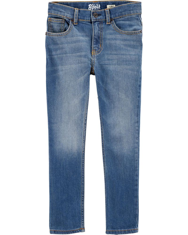 Regular Fit Skinny Jeans - Indigo Bright Wash, , hi-res