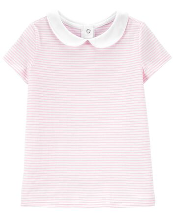 Striped Peter Pan Collar Top