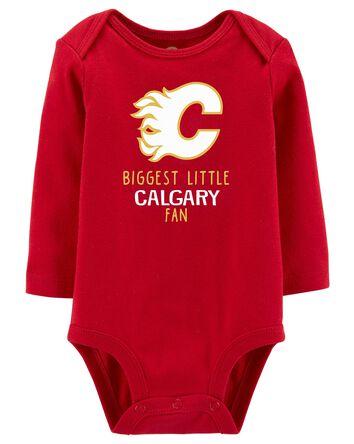 Cache-couche des Flames de Calgary...