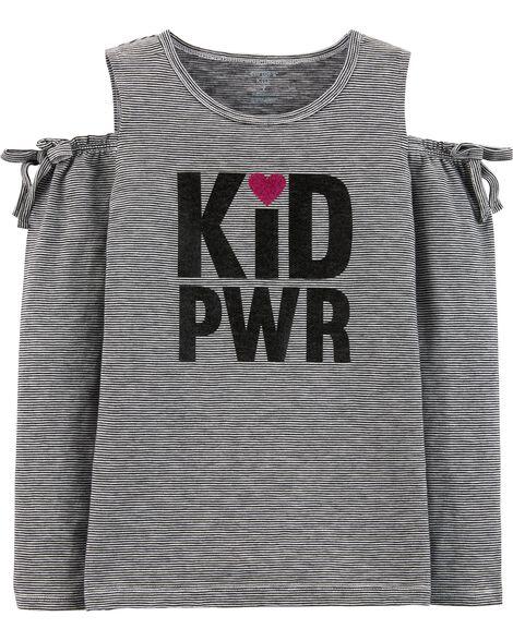 Kid Power Cold Shoulder Top