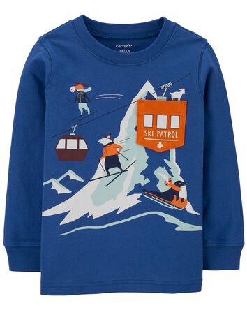 T-shirt en jersey Snow