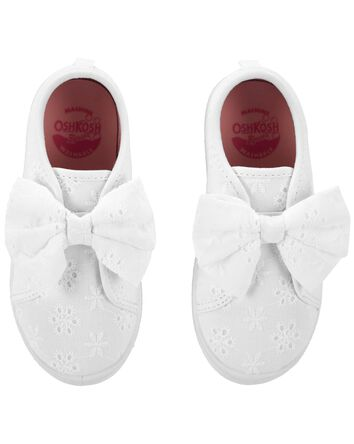 Eyelet Bow Sneakers