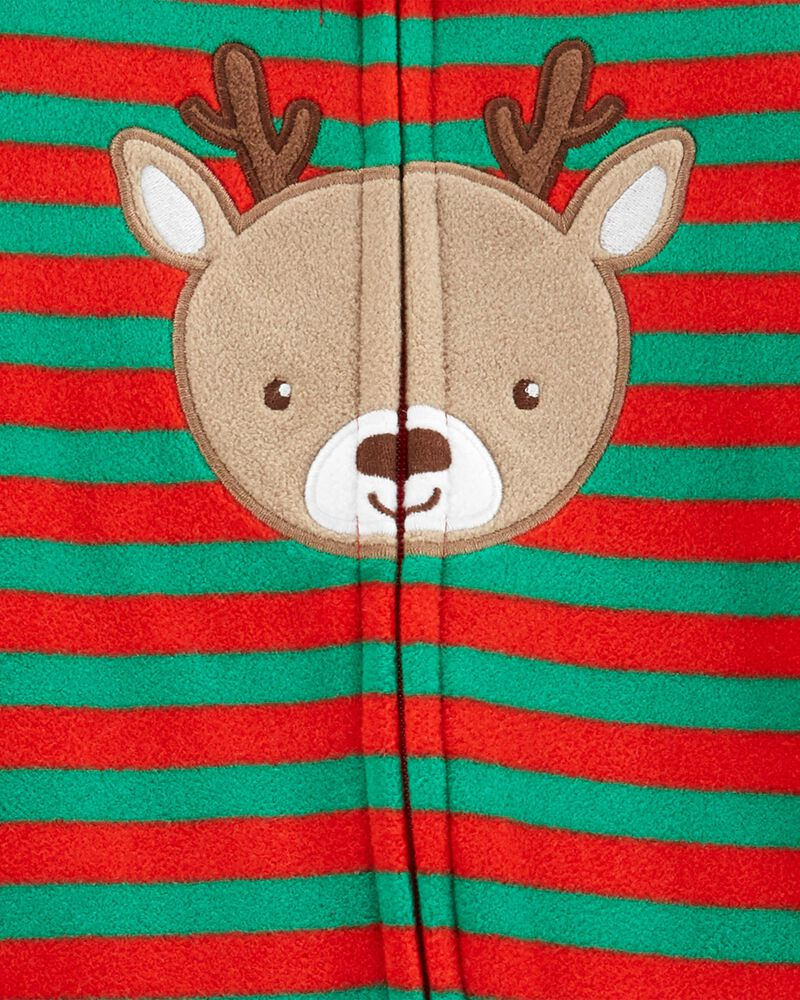 Christmas Reindeer Zip-Up Fleece Sleep & Play, , hi-res