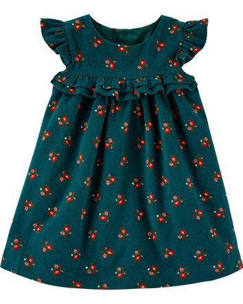 Floral Corduroy Dress