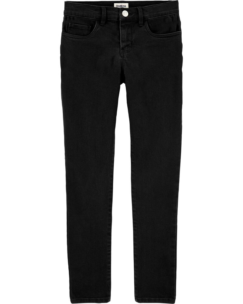 Black Denim Jeggings, , hi-res