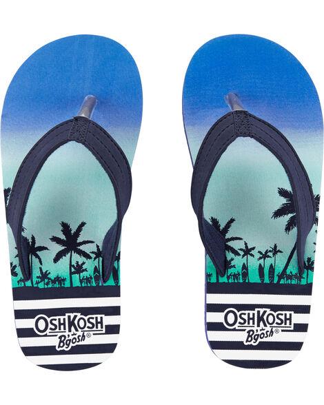 Sandales de plage à palmiers