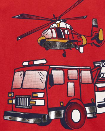 T-shirt en jersey à camion d'incend...