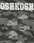 Kangourou en jersey bouclette à logo, , hi-res