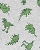 2-Piece Dinosaur Jersey Henley & Chambray Short Set, , hi-res
