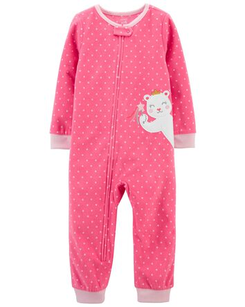 1-Piece Mouse Fleece Footless PJs