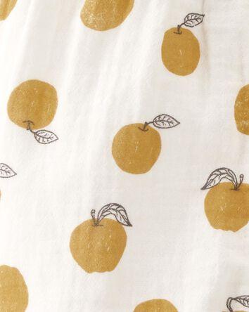 Organic Cotton Gauze Ruffle Jumpsui...