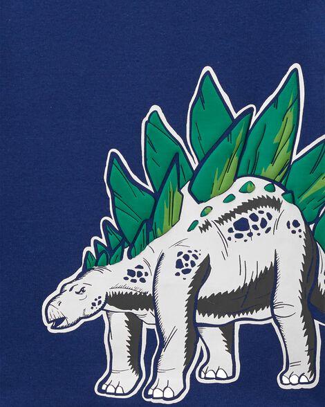 4-Piece Dinosaur Snug Fit Cotton PJs