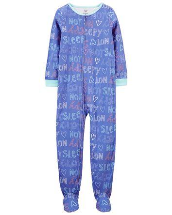 Pyjamas en molleton 1 pièce à pieds...