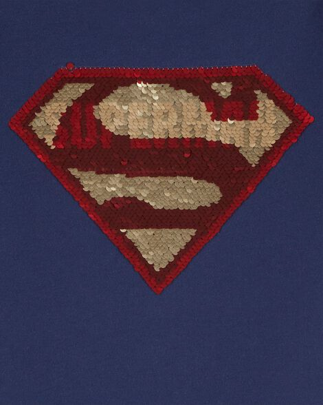 T-shirt Superman à paillettes réversibles
