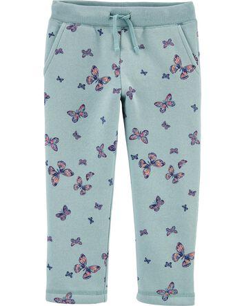 Pantalon en molleton à papillons