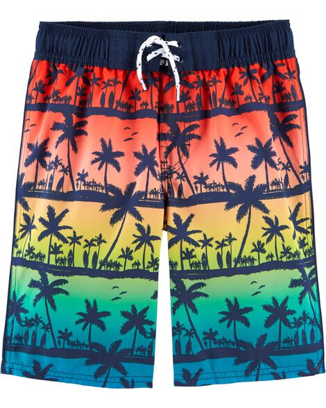 Palm Tree Swim Trunks
