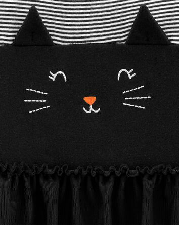 Halloween Cat Bubble Romper