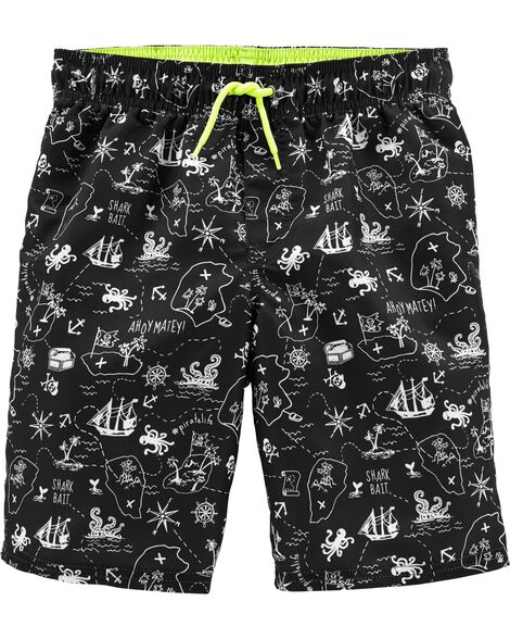 Pirate Swim Trunks