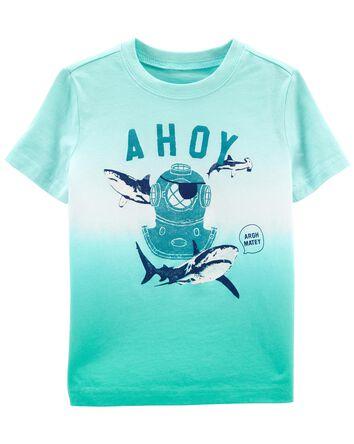 T-shirt teint en dégradé