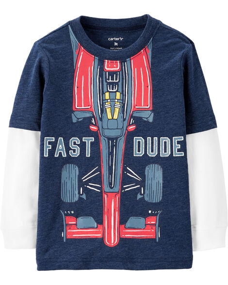 Race Car Layered-Look Tee