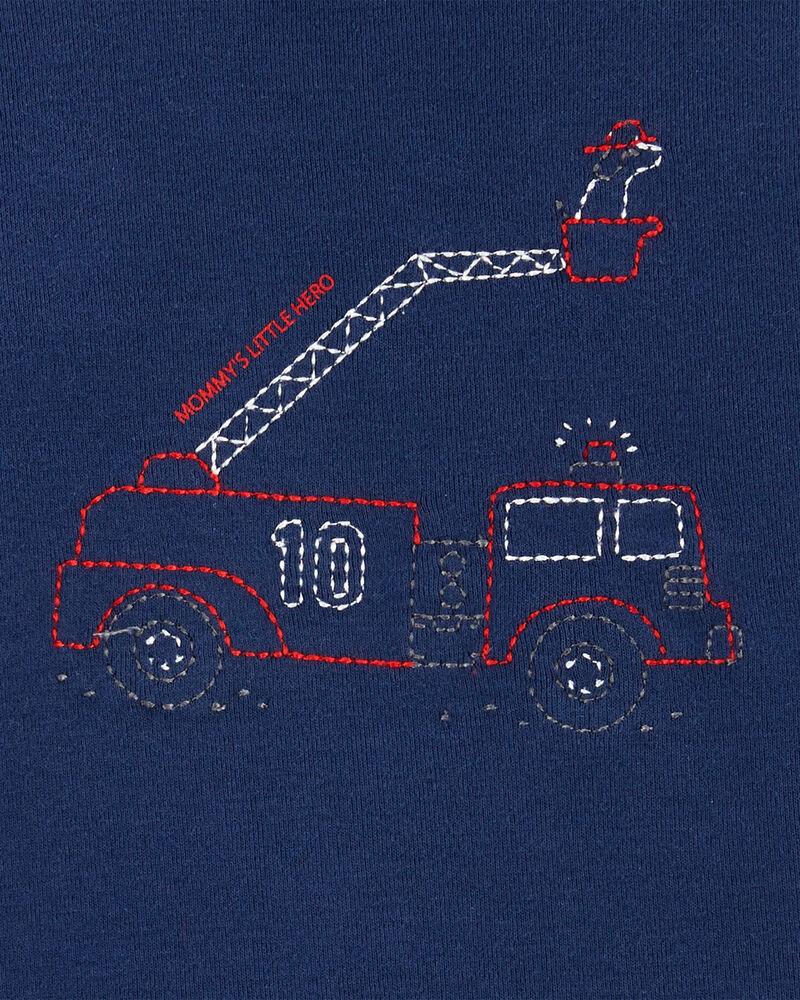 Ensemble 2 pièces cache-couche à camion d'incendie et pantalon, , hi-res