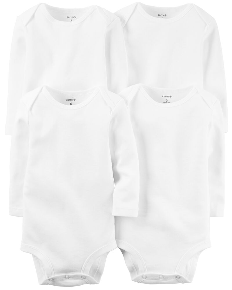 4-Pack Long-Sleeve Original Bodysuits, , hi-res
