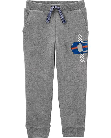 Race Car Pull-On Slub French Terry Joggers