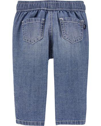 Pull-On Chambray Convertible Pants