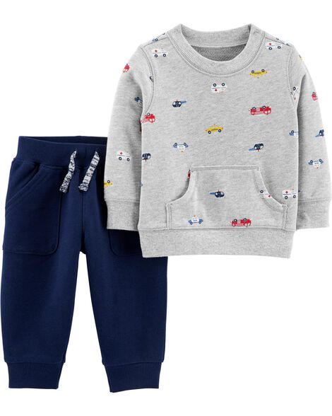 2-Piece French Terry Sweater & Pant Set
