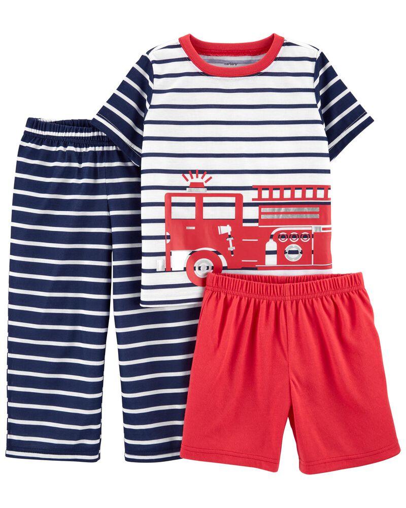Pyjama 3 pièces de coupe ample à crabe, , hi-res