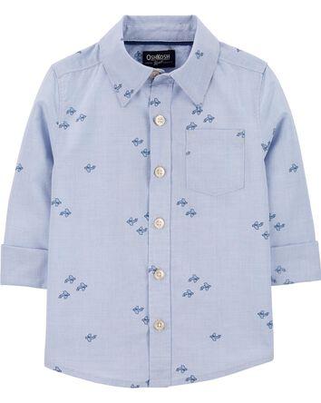 Chemise boutonnée à avions