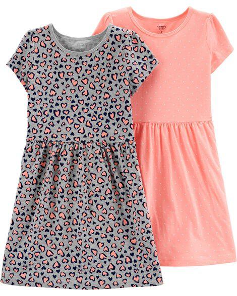 2-Pack Jersey Dress Set
